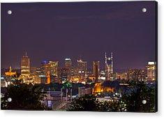 Nashville By Night 3 Acrylic Print by Douglas Barnett