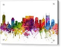 Nashville Cityscape 06 Acrylic Print by Aged Pixel