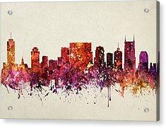 Nashville Cityscape 09 Acrylic Print by Aged Pixel
