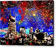 Nashville Acrylic Print by Nick Mantlo-Coots