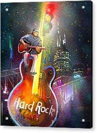 Nashville Nights 01 Acrylic Print by Miki De Goodaboom