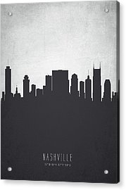 Nashville Tennessee Cityscape 19 Acrylic Print by Aged Pixel
