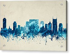 Nashville Tennessee Skyline 20 Acrylic Print by Aged Pixel