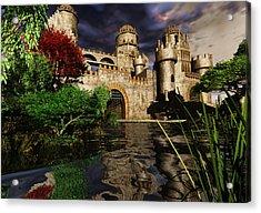 Natalie's Castle Acrylic Print by Steven Palmer
