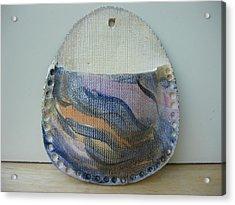 Natalie's Wall Vase Acrylic Print by Julia Van Dine