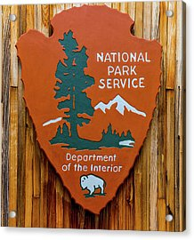 National Park Service Sign Acrylic Print by Brian MacLean