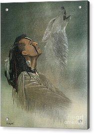 Native American Indian Acrylic Print by Morgan Fitzsimons