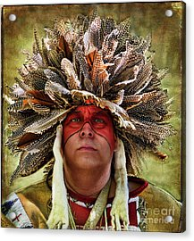 Native American Acrylic Print by Norma Warden