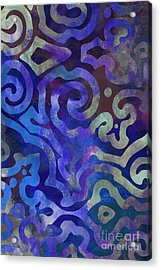 Native Elements Cobalt Blue Acrylic Print by Mindy Sommers
