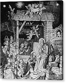 Nativity Acrylic Print by German School