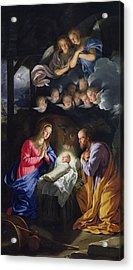 Nativity Acrylic Print by Philippe de Champaigne