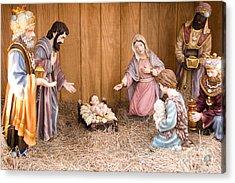 Nativity Scene Acrylic Print by Thomas R Fletcher