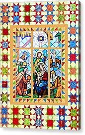 Nativity Stars Acrylic Print by Munir Alawi