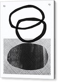 Natural Balance- Abstract Art Acrylic Print by Linda Woods