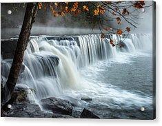 Natural Dam Falls Acrylic Print by James Barber