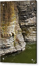 Nature Abstract Rock Cliffs Acrylic Print by Christina Rollo