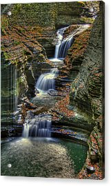 Nature's Tears Acrylic Print by Evelina Kremsdorf
