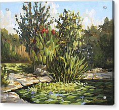 Natures Water Garden Acrylic Print by Jose Rodriguez