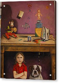 Naughty Child Acrylic Print by Leah Saulnier The Painting Maniac