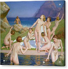 Nausicaa Acrylic Print by William McGregor Paxton