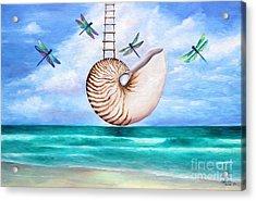 Nautilus Evolution Acrylic Print by Gabriela Valencia