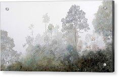 Nebbia Nella Foresta Acrylic Print by Guido Borelli