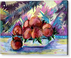 Nectarines Acrylic Print by Mindy Newman