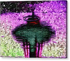 Needle In A Raindrop Stack 3 Acrylic Print by Tim Allen