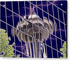 Needle Reflection Acrylic Print by Tim Allen