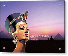 Nefertiti Acrylic Print by Debbie McIntyre