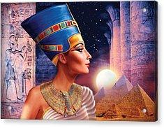 Nefertiti Variant 5 Acrylic Print by Andrew Farley