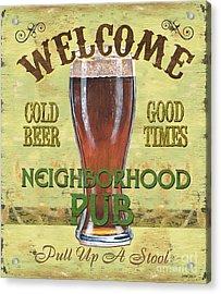 Neighborhood Pub Acrylic Print by Debbie DeWitt