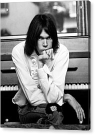 Neil Young 1970 Acrylic Print by Chris Walter