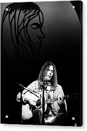 Neil Young 1976 Acrylic Print by Chris Walter