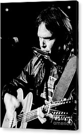 Neil Young 1986 #2 Acrylic Print by Chris Walter