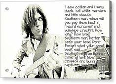 Neil Young And Lyrics Acrylic Print by John Malone