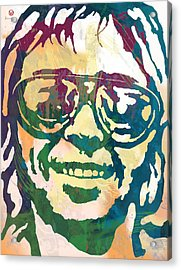 Neil Young Pop Stylised Art Poster Acrylic Print by Kim Wang