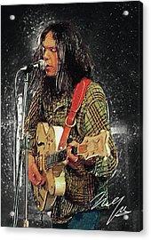 Neil Young Acrylic Print by Taylan Apukovska