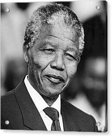 Nelson Mandela Acrylic Print by Everett
