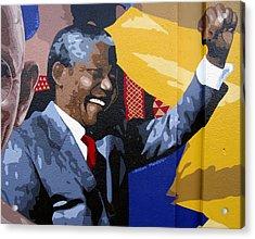 Nelson Mandela Acrylic Print by Roberto Valdes Sanchez