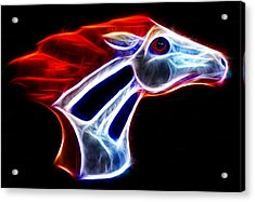 Neon Bronco Acrylic Print by Shane Bechler
