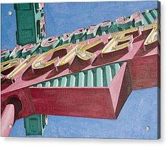 Neon Sign Cherry Cricket Acrylic Print by Rob De Vries