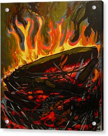 Nest On Fire Acrylic Print by Tilly Strauss