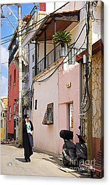 Neve Tzedek Neighborhood In Tel Aviv Acrylic Print by Zalman Latzkovich