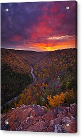 Neverending Autumn Acrylic Print by Joseph Rossbach
