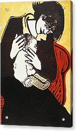 New Baby Two Acrylic Print by Carol Walklin