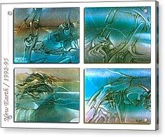 New Earth 1992-95 Acrylic Print by Glenn Bautista