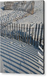 New England Fence Acrylic Print by Gene Sizemore
