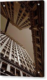 New Heights - Wrigley Building - Chicago Acrylic Print by Dmitriy Margolin