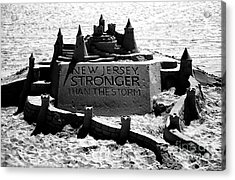 New Jersey Stronger Than Storm Acrylic Print by John Rizzuto